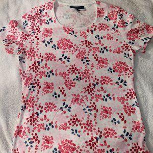 Karen Scott Printed T-Shirt (Petite M)